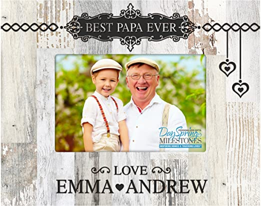 Personalised Engraved Photo Picture Frame Step Dad Fathers Day Birthday Daddy