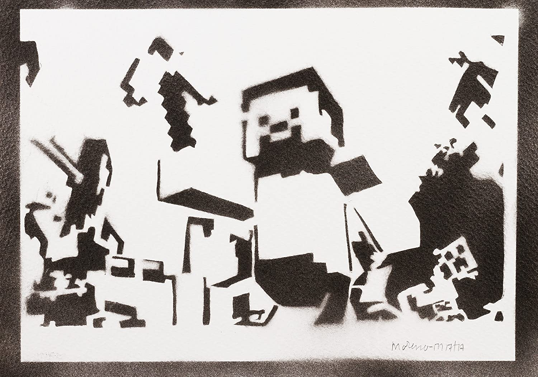 Poster Minecraft Affiche Handmade Graffiti Street Art Artwork