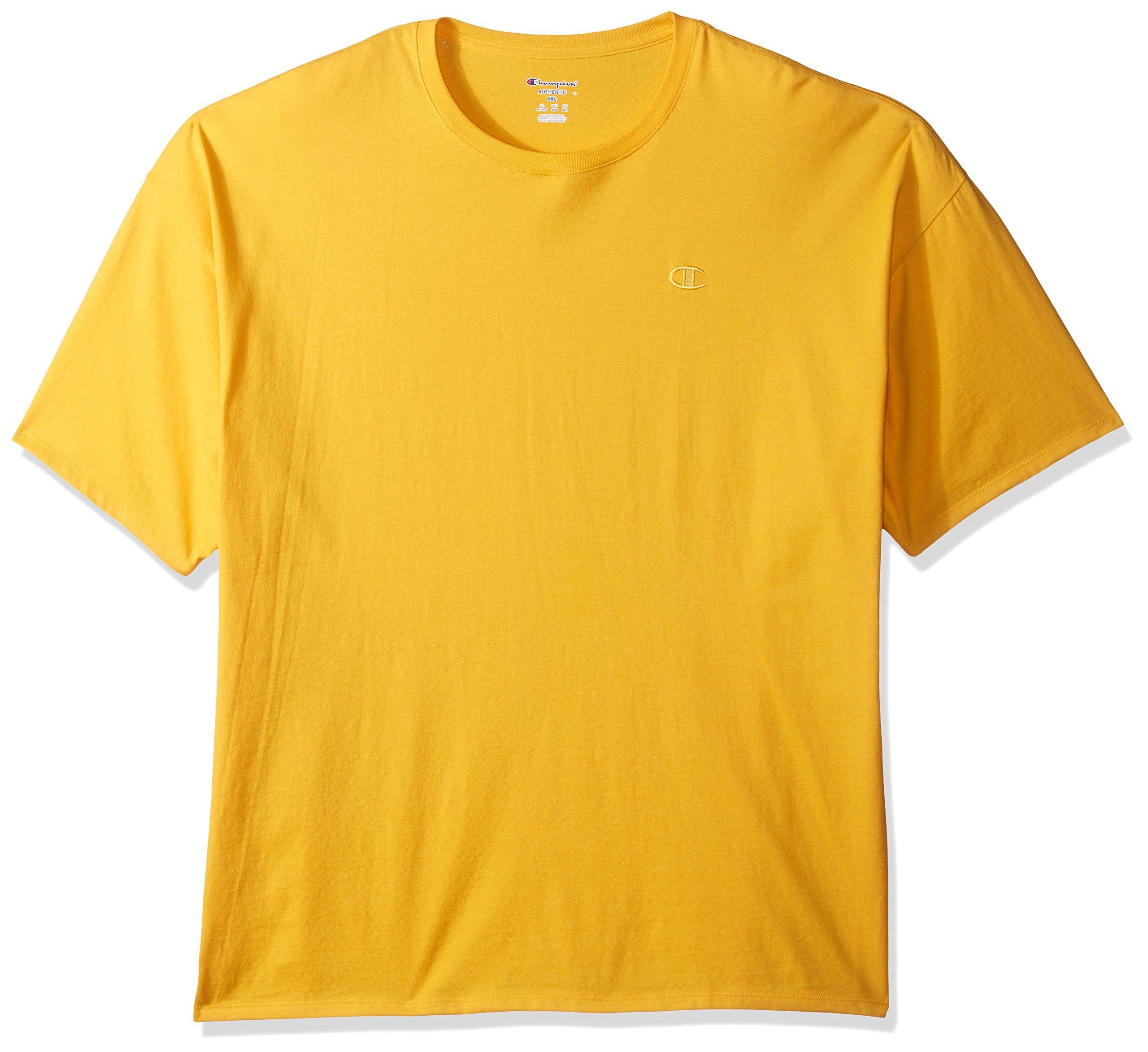 223de38162e6 Galleon - Champion Men's Classic Jersey T-Shirt, Team Gold, 4X Large