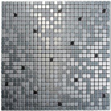 Flisen  Royllent Moderne Flisen in Mosaik-Muster, Metall-Optik, Aluminium ...