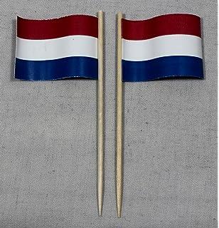 Party-Picker Flagge Texas USA Bundesstaat Papierf/ähnchen in Spitzenqualit/ät 50 St/ück Beutel
