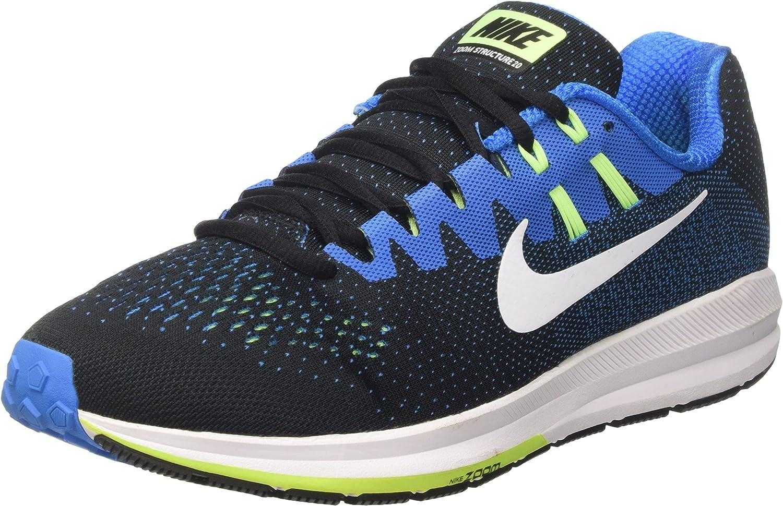 Nike Air Zoom Structure 20, Zapatillas de Trail Running para Hombre, Negro (Black/White/Photo Blue/Ghost Green), 42 EU: Amazon.es: Zapatos y complementos