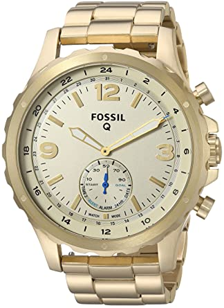 b22e7fc19cf5e Amazon.com  Fossil Q Men s Nate Stainless Steel Hybrid Smartwatch ...