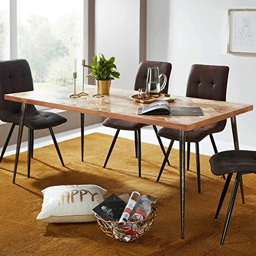 KS-Furniture WL5.634 - Mesa de Comedor (Madera de Acacia, 120 x 60 ...