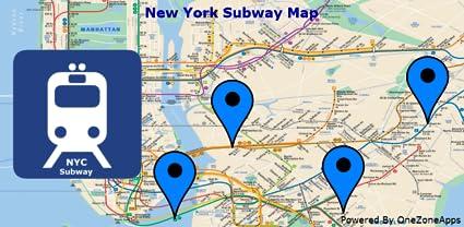 New York Subway Map App.New York Subway Map Nyc