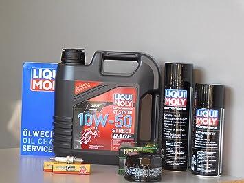 Mantenimiento Set Aprilia Shiver Dorsoduro 750 aceite Bujía Inspección Service: Amazon.es: Coche y moto