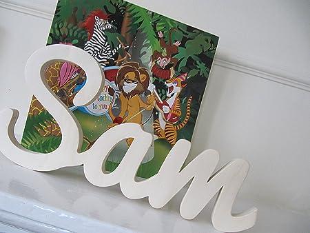 Les enfants personnalisé en bois lettres Porte Mur Noël Xmas Cadeau Garçons Filles