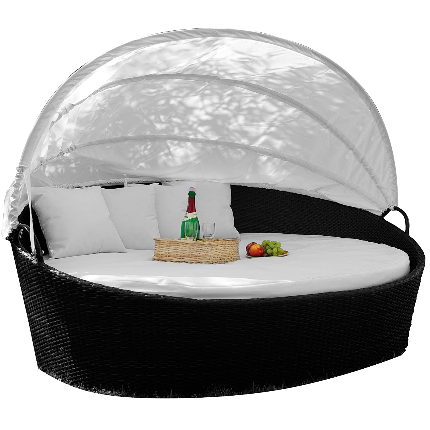 Rattan sonneninsel  Amazon.de: Exclusive Sonneninsel aus Poly Rattan Lounge Rattanbett ...