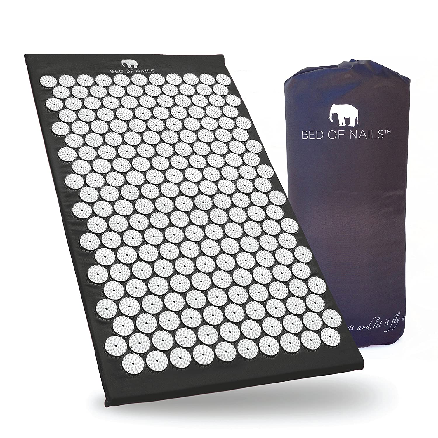 Bed of Nails Original Acupressure Mat for Back/Body Pain Treatment, Relaxation and Mindfulness, Black Bed of Nails inc. 1910