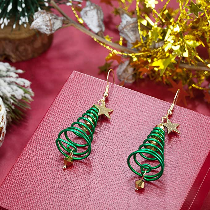 Female Fashion Earrings Christmas Tree Dangle Earring Jewelry Party Charming FY