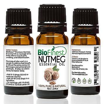 Amazon Com Biofinest Nutmeg Oil 100 Pure Nutmeg Essential Oil