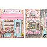 """Paris Bedroom Decor, Set Of 2, Baby Girl French Nursery Art, French Poodle Print, Personalized Laduree Patisserie And Parisian Cafe, 6 Sizes - 5 x 7"""" To 24 x 36"""" Poster"""