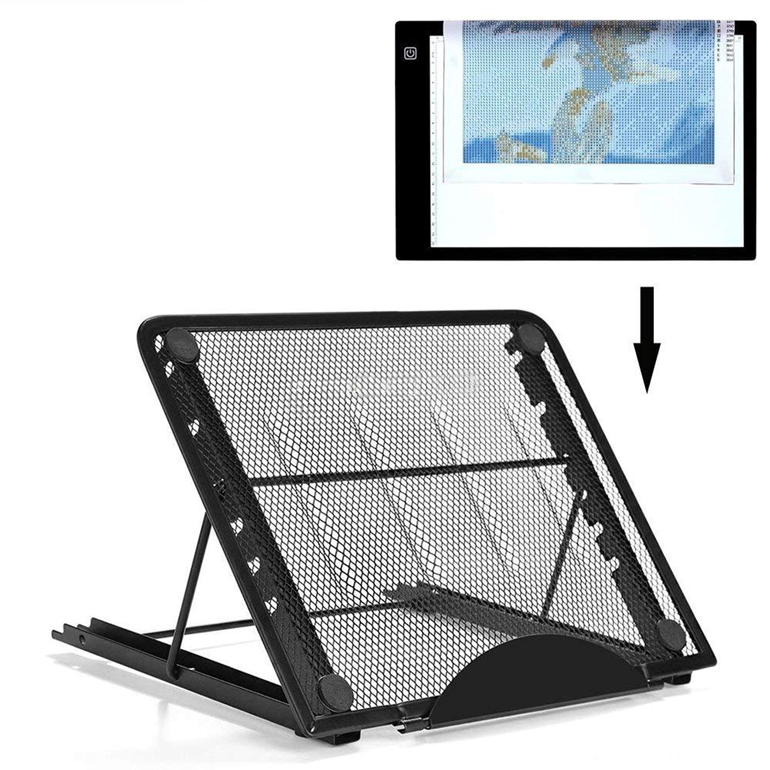 Ventilated Adjustable Light Box Laptop Pad Stand,Multifunction (6 Angle Points) Skidding Prevented Tracing Holder for Tikteck A4 LED Tracing Light Board by tiktecklab