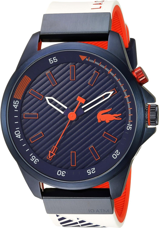 Lacoste Men s CAPBRETON Quartz Watch with Silicone Strap, White, 20 Model 2010894