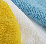 AmazonBasics Blue and Yellow Microfiber Cleaning