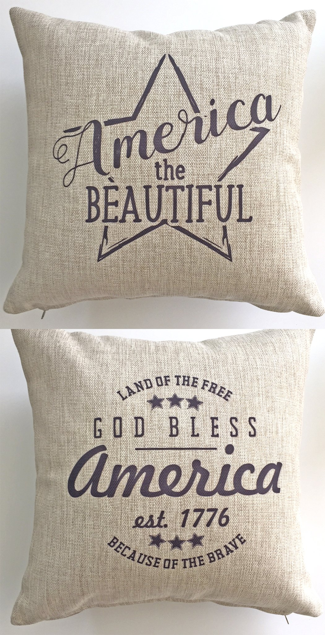 Evelyn Hope Collection Patriotic-America-USA indoor-outdoor Throw Pillow