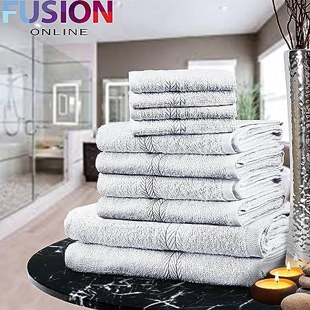 Set de toallas de lujo Fusion(TM), 100 % algodón egipcio, 10 ...