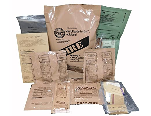 What does an MRE contain?