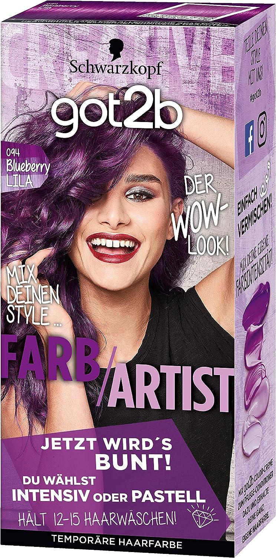got2b 094 Blueberry Lila Color de Artist Color del pelo (3 unidades, X 80 ml)