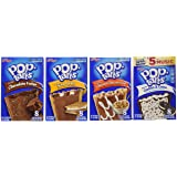 "Pop Tarts Frosted Variety Pack, CHOCOLATE Flavors: S""mores, Cookies and Cream, Chocolate Chip Cookie Dough, Chocolate Fudge. Bundle of 4- 8 Count Boxes, 1 of Each Flavor. Great Care Package"