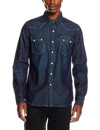 f8b95dc4 Levi's Men's SAWTOOTH WESTERN Casual Shirt, Blue (CONE RANCH HAND), ...