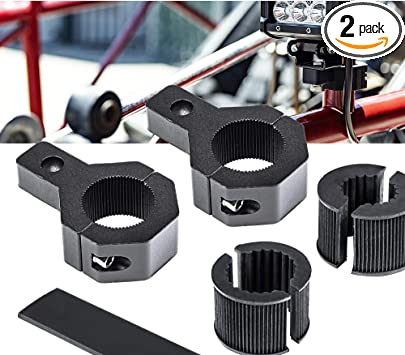 1//1.5//1.75//2 Inch 2 Units Off-Road ATV UTV Light Bar Mounts Mounting Bracket Bar Clamp Kits Bull Bar UTV Roll Bar Clamp Tube Roll Cage Clamps Mount For ATV UTV Aluminium Horizontal Bar