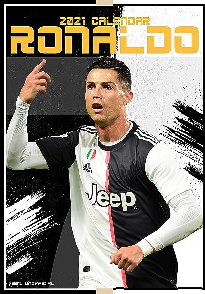 Cristiano Ronaldo 2021 Calendrier mural avec étoiles de sport