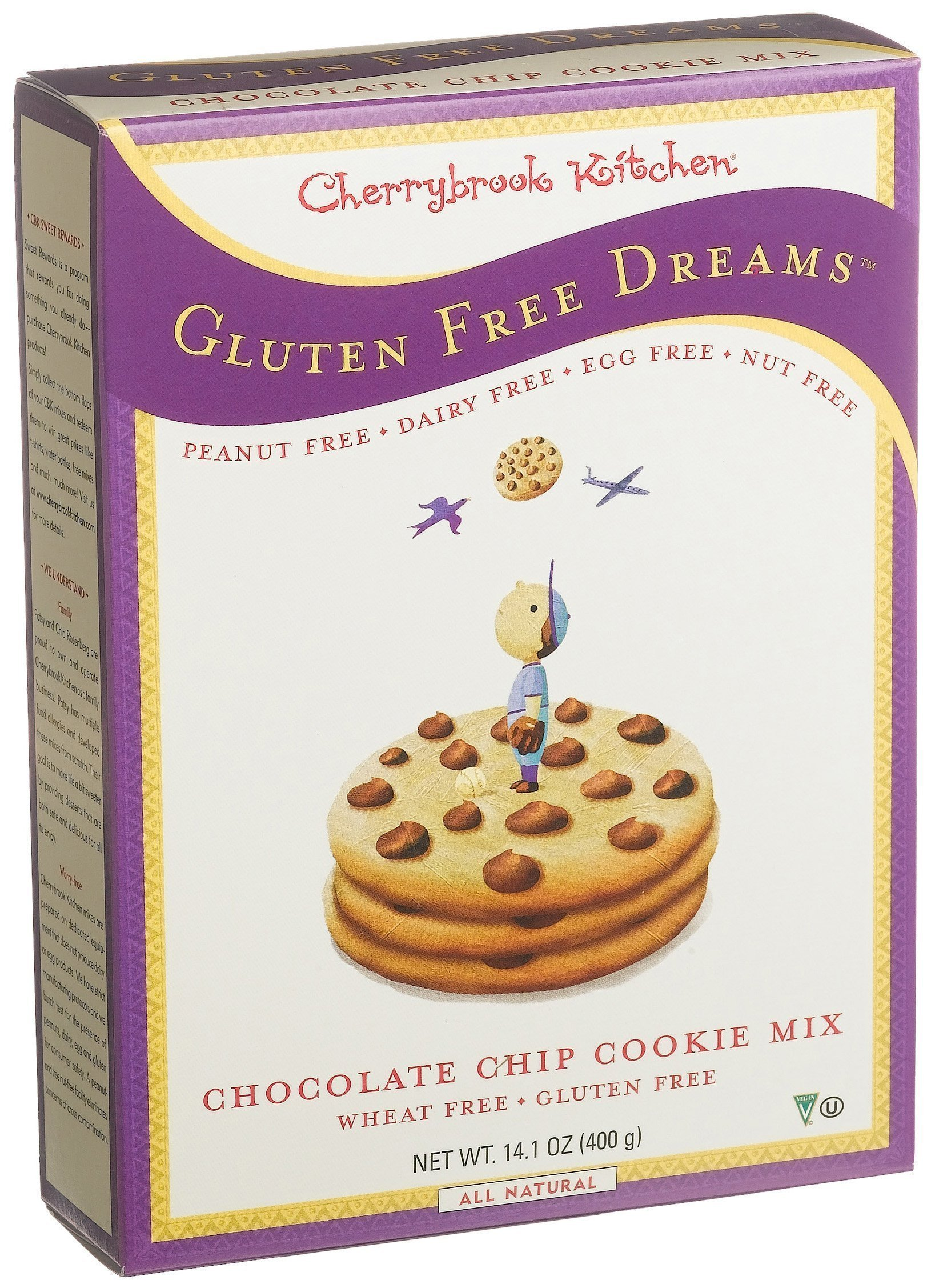 Cherrybrook Kitchen Gluten Free Dreams, Chocolate Chip Cookie Mix, 14.1-Ounce Boxes (Pack of 6) by Cherrybrook Kitchen