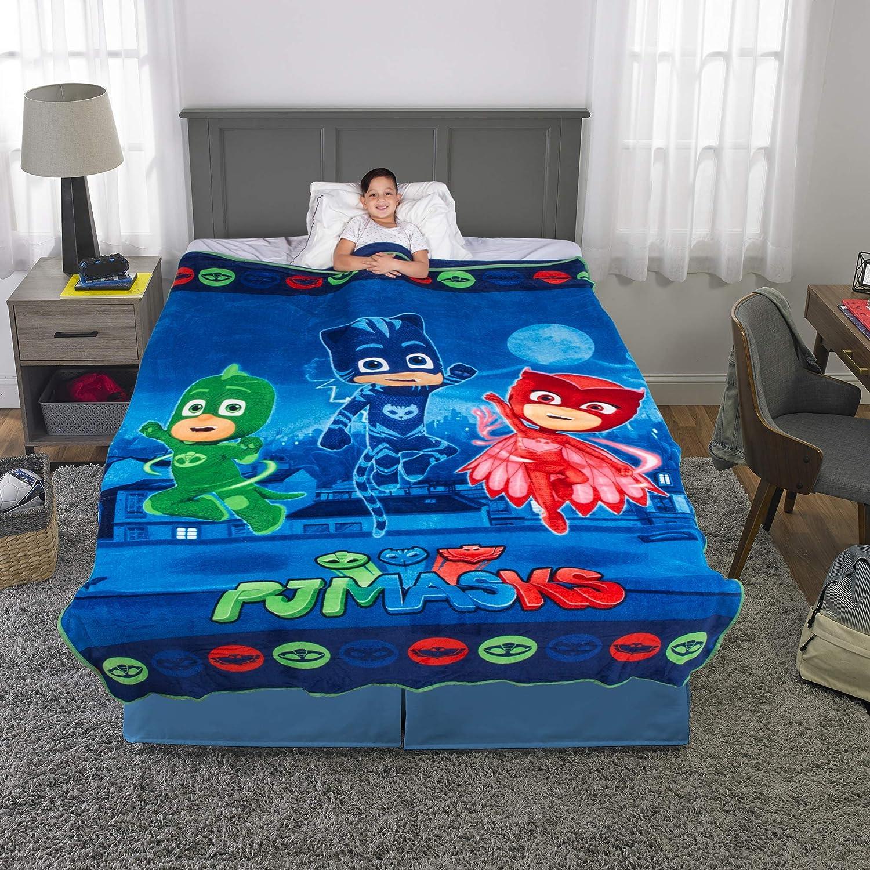 "Franco Kids Bedding Super Soft Plush Microfiber Blanket, Twin/Full Size 62"" x 90"", PJ Masks"