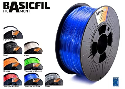 BASICFIL PET 1.75mm, 1 kg filamento de impresión 3D, Azul ...