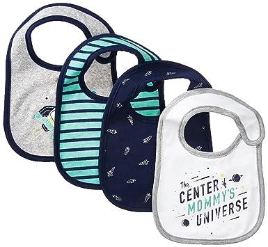59c665db1 Amazon.com: Carter's Boys' Teether Bibs, Navy One Size Baby: Clothing