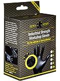 Black Mamba - Pack de 8 guantes de nitrilo (tamaño mediano), color negro