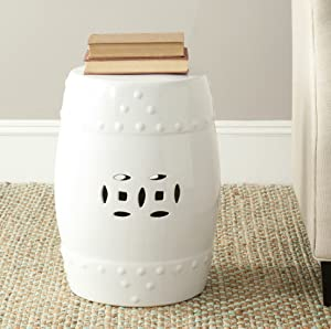 Safavieh Modern Ming Ceramic Decorative Garden Stool, White