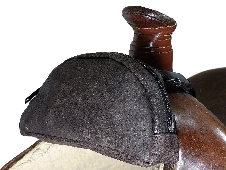 5cb9287d150 Thor Equine Pommel Pocket Sillín de piel Western Pack Funda Marrón:  Amazon.es: Deportes y aire libre