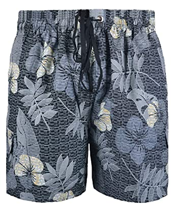0dd2e0b123 Big Mens Black Grey Brooklyn Calla Floral Swim Shorts 2XL 3XL 4XL 5X 6XL:  Amazon.co.uk: Clothing