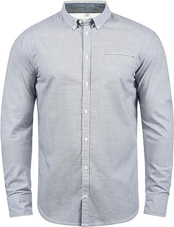 BLEND Fill Camisa De Manga Larga con Botones En El Cuello De 100% algodón: Amazon.es: Ropa y accesorios