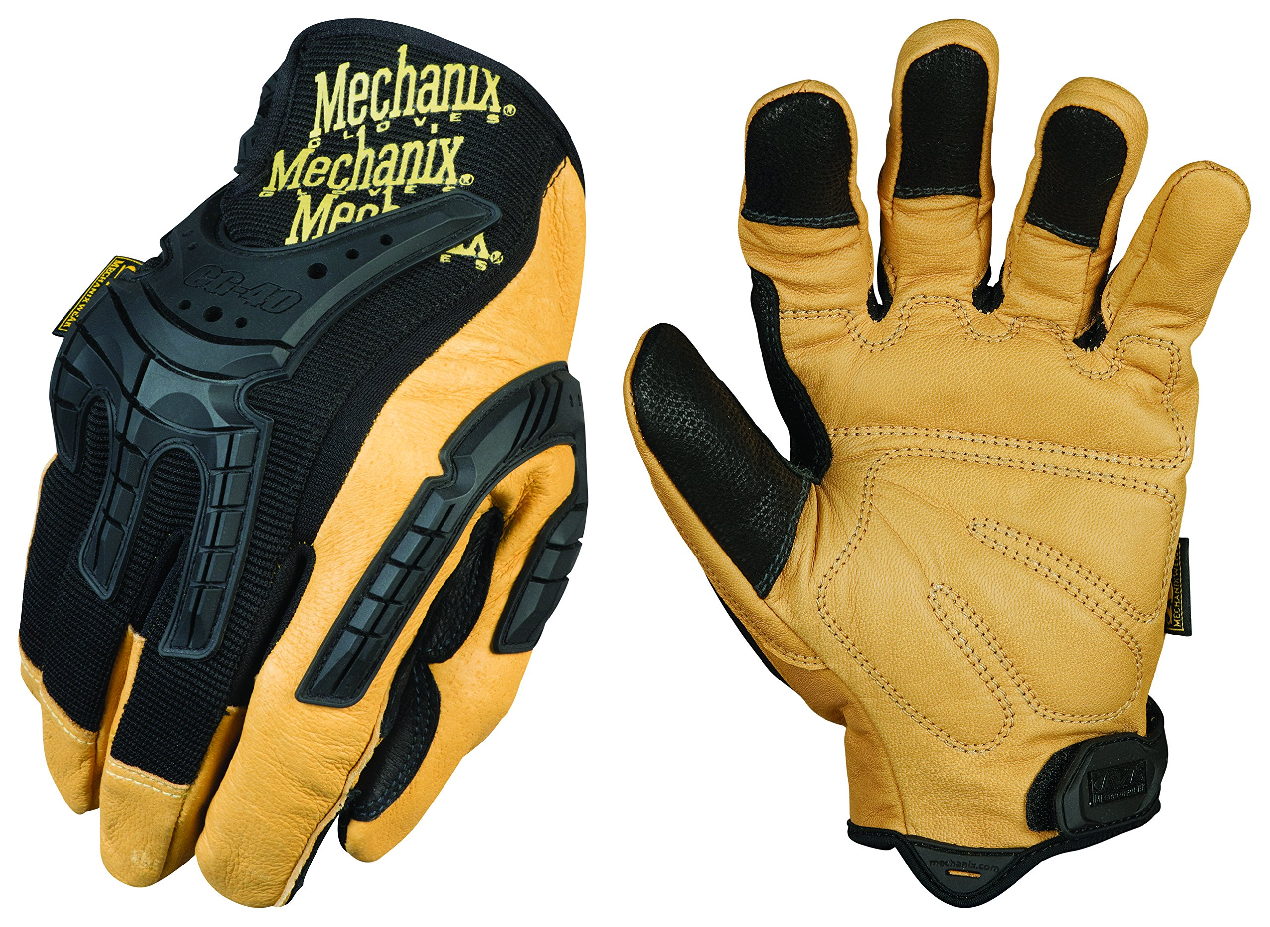 Mechanix Wear - CG Leather Heavy Duty Gloves (Medium, Brown/Black) by Mechanix Wear