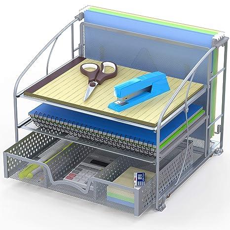 Amazon.com: Organizador de escritorio con 3 bandejas con ...