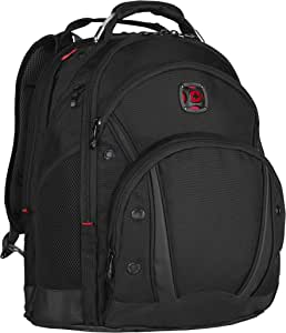 "Wenger 605074 Synergy 16"" Backpack with Shock Absorbing Shoulder Straps In Black {30 Litres}"