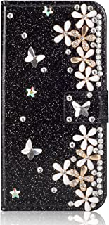 New Look Diamond Compatible with iPhone 6S iPhone 6,Stunning Loves Sparkly Bling Glitter Flip Wallet Leather Stand Kickstand Function Bookstyle Magnetic Switch Closure Card Slots