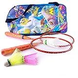 Elan BS-K-002 Badminton Racquet Set, Kids Pack of 3 (Orange)