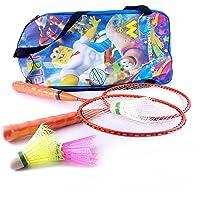 elan Frame Orange Short Handle Racquets Badminton Toy Set