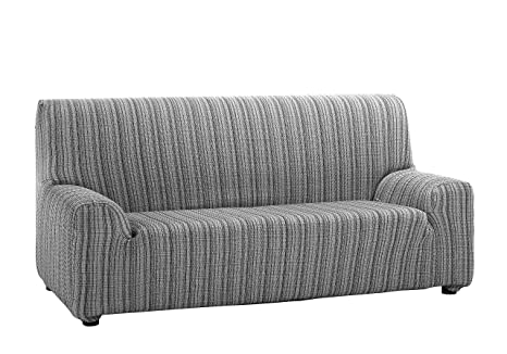 Martina Home Mejico - Funda de sofá elástica, Gris, 4 Plazas, 240 a 270 cm de ancho