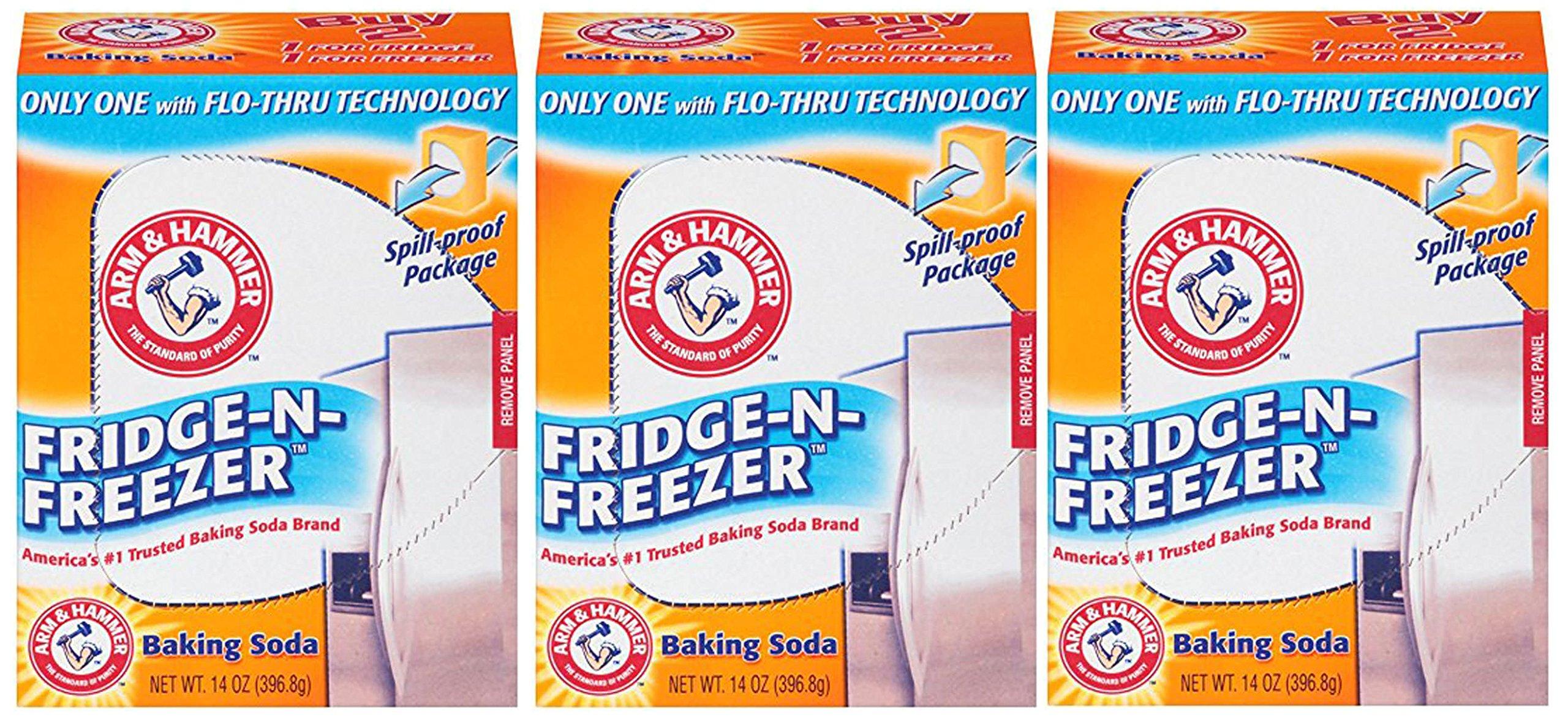 Arm & Hammer Fridge-n-Freezer Baking Soda, 14 Ounce (Pack of 36)