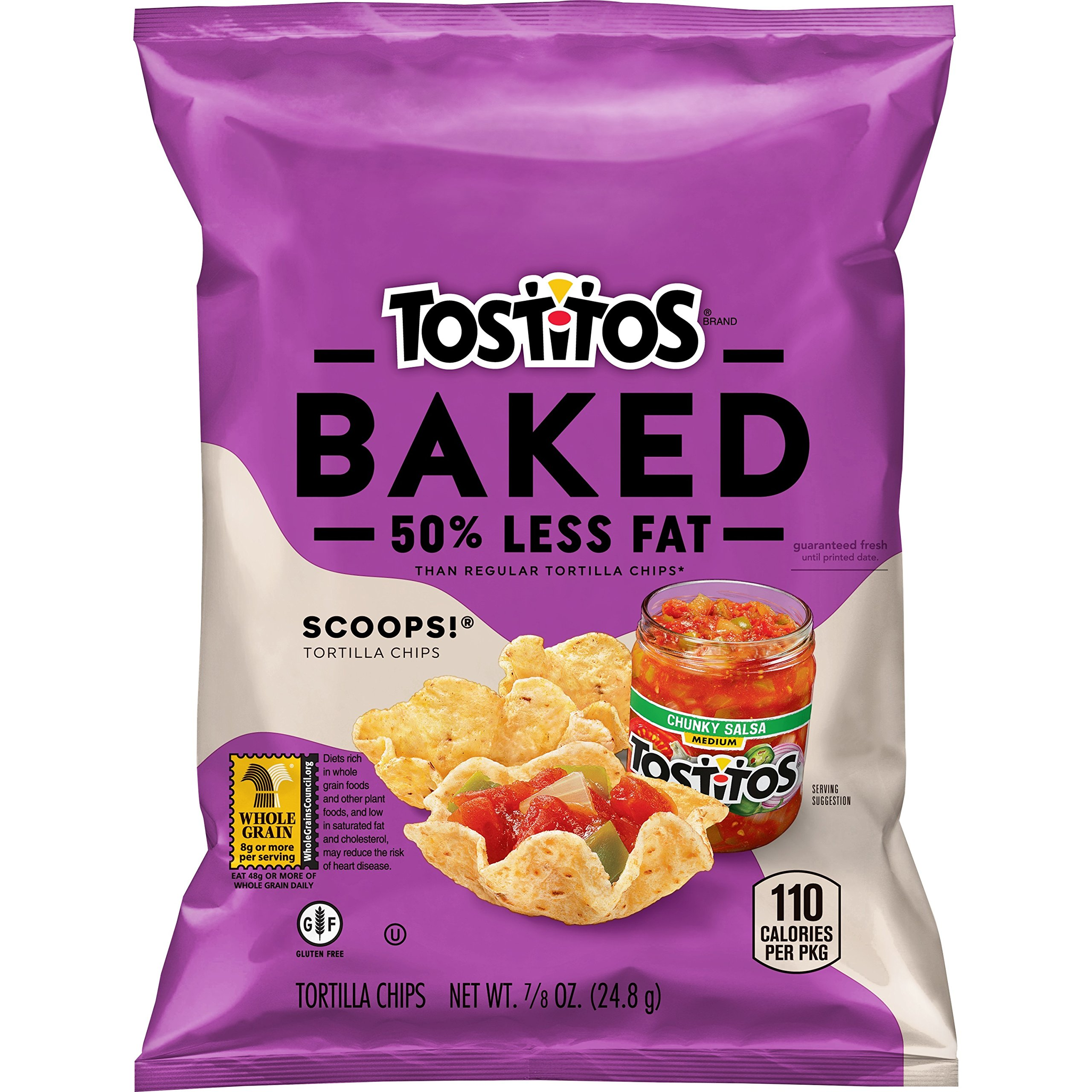 Baked Tostitos Oven Baked Scoops Tortilla Chips (Pack of 72) by Baked Tostitos