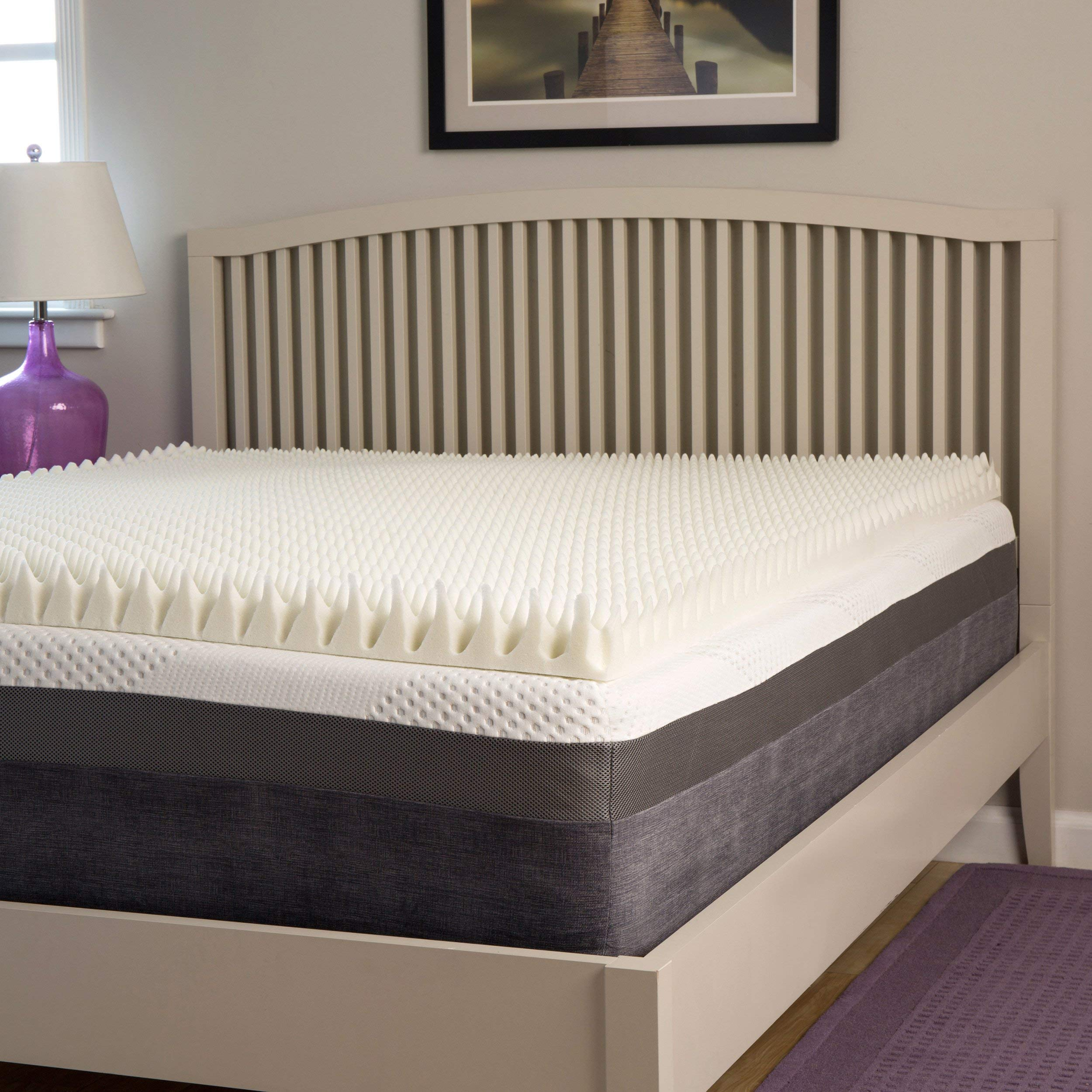 Slumber Perfect Highloft Supreme 3-inch Convoluted Memory Foam Topper Queen