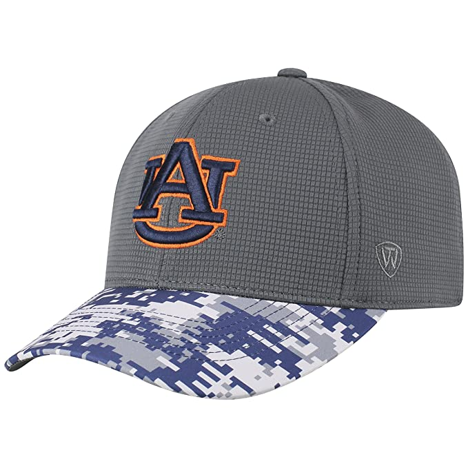 on sale 2ddf4 f2581 Amazon.com   Top of the World NCAA Salute to USA Military -One-Fit Camo Hat  Cap-Auburn Tigers   Clothing
