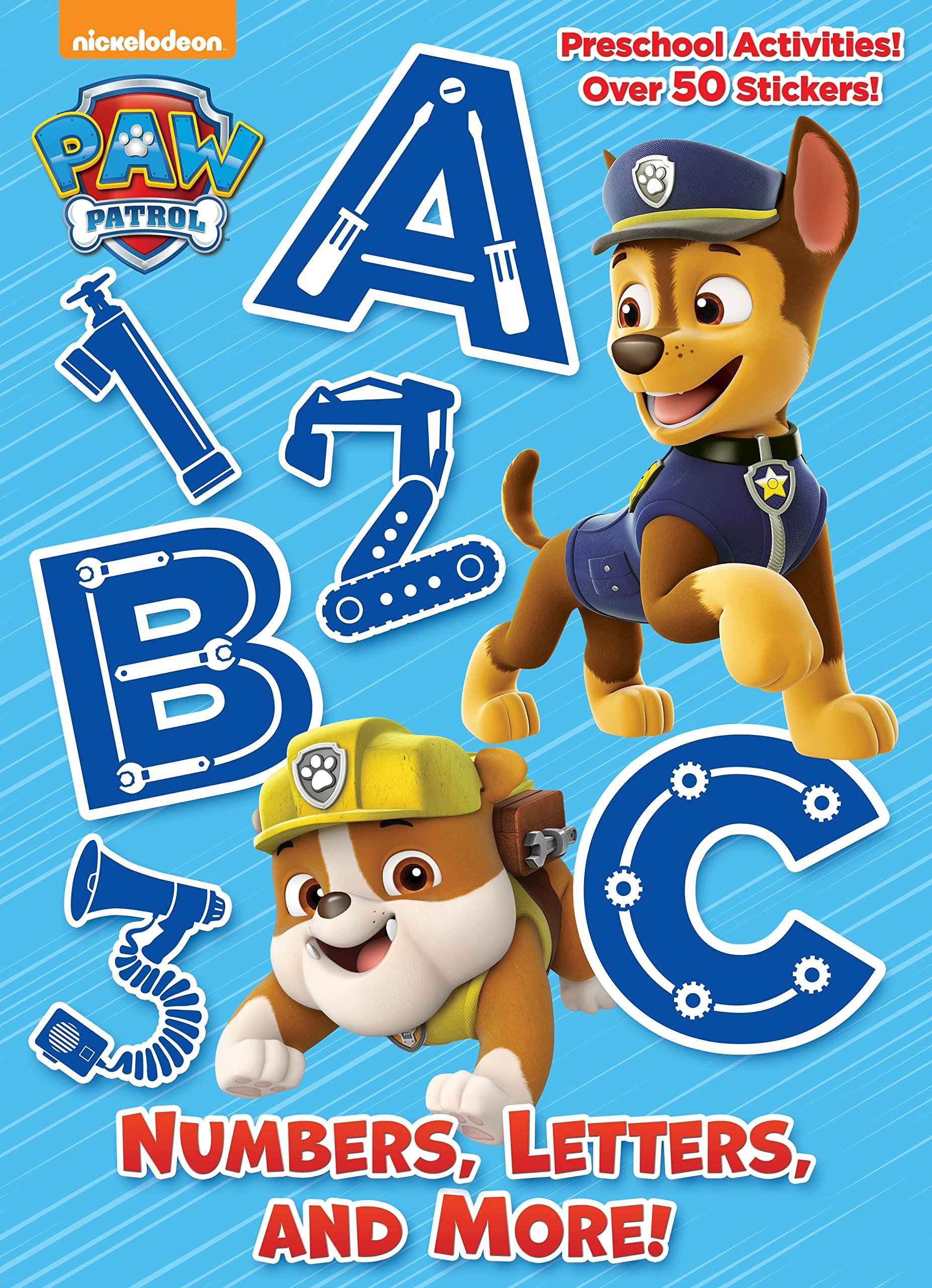Numbers, Letters, and More! Paw Patrol Full-Color Activity Book with ...