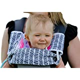Drool and Teething Pad Reversible Organic Cotton 3-Piece set for Ergobaby Four Position 360 Baby Carrier (Grey and White Arrows)
