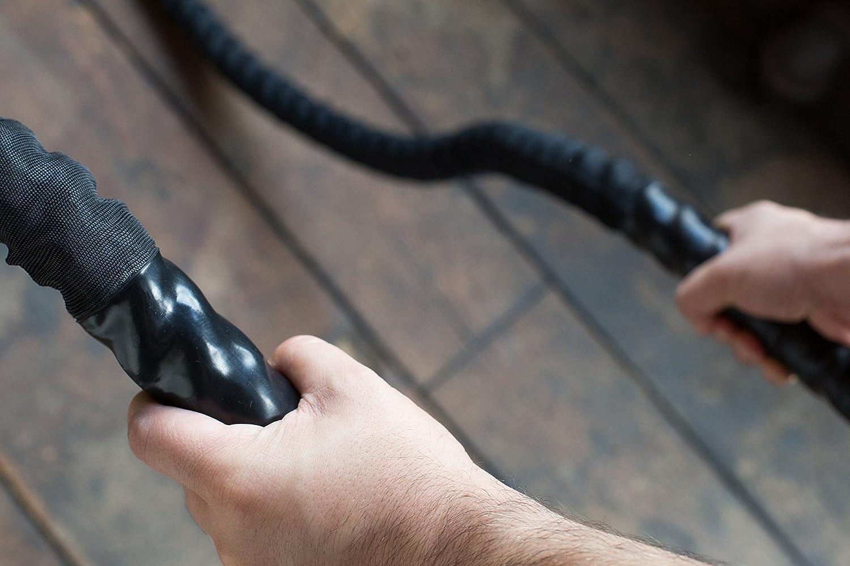 TrainedTo Bataille Corde Corde de Combat/ 9/m//12/m//15/m de Long Musculation Salle de Sport et Maison dentra/înement /38/mm pour Crossfit
